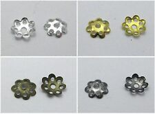 1000 Jewelry Flower Bead Caps 8mm Fits 10-14mm Beads Pick Your Colour