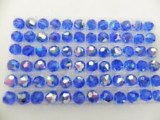 Swarovski 5300 Sapphire AB Various Sizes Vintage Crystal Beads
