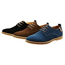 mens Smart Italian Suede Cuban heel Brogues Faux leather Business Shoes Size