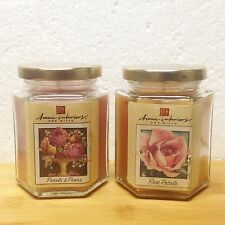 Home Interiors 7.5 oz Candles ROSE PETALS or PETALS & PEARS Glass Jars RETIRED