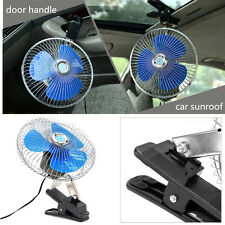 12/24V 8 inch Oscillating Car Air Cooling Fan Clip On With Cigarette Lighter