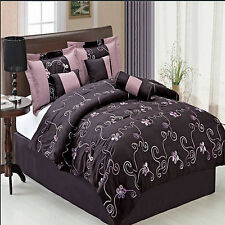 Convington Luxury 7 PC Comforter Set Includes Comforter Skirt Shams Pillows