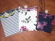 BNWT LADIES JOULES HARBOUR HEDGEROW FLORAL AND STRIPED JERSEY TOP SIZE 12.£29.95