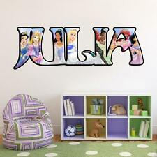 Disney Princess PERSONALIZED NAME Decal WALL STICKER Home Decor Art Mural J250