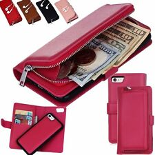 Magnetic Removable Leather Wallet Flip Cards Case Cover For iPhone 7& 6/ 6S Plus