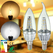 E14 3W 4.5W 3014 SMD LED Chandelier Candle Flame Light Lamp Bulb Warm/White 220V