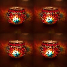 Handmade Turkish Moroccan Glass Mosaic Candle Holder Tea Light - UK TOP SELLER
