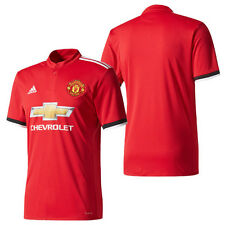 BNWT Adidas 2017/18 MANCHESTER UNITED MUFC Home Red Soccer Jersey Shirt BS1214