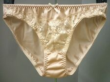 Vintage Sexy Sissy Sheer Lace Nylon Panties Hi-Cut Briefs Knickers Size L , XL