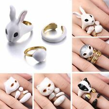 Fashion 3Pcs/Set Cute Animal Cat Dog Opened Knuckle Finger Rings Women Jewelry