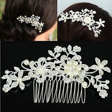 Bridal Crystal Hairpin Clip Women Girl Wedding Spiral Twist Hair Pin Headdress