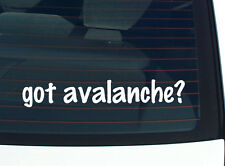 got avalanche? SNOW SKIING FUNNY DECAL STICKER ART WALL CAR CUTE