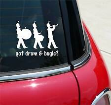 GOT DRUM BUGLE? CORP CORPS MARCHING BAND GRAPHIC DECAL STICKER ART CAR WALL