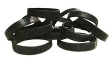 Black Awareness Bracelets 50 Piece Lot Silicone Wristband Cancer Cause IMPERFECT