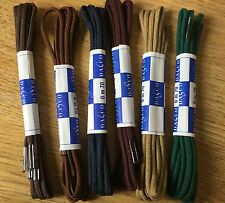 SHOE LACES 70cm ROUND BROWN NAVY GREEN DARK TAN UP TO 6 EYELETS MADE ENGLAND