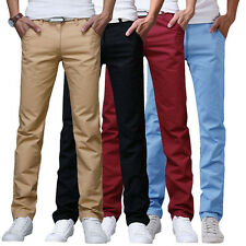Formal Mens Slim Fit Straight-Leg Jeans Trousers Casual Pencil Business Pants
