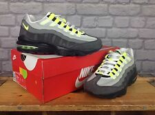 NIKE CHILDRENS UK 5 AIR MAX 95 GREY NEON YELLOW VOLT TRAINERS BOYS *RRP £115*