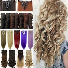 Long Real Natural Full Head as Human Hair Extension Clip in Hair Extensions LF3