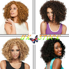 UK Women's Wavy Curly Short Afro Hair Party Cosplay Hairpieces Natural Full Wigs