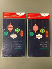 AMERICAN GREETINGS Christmas Ornaments 6 Money Gift Card Holders & Envelopes.NEW
