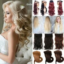 UK Real Thick 1Pcs Clip in Full Head Hair Extensions Extension As Human Hair LC
