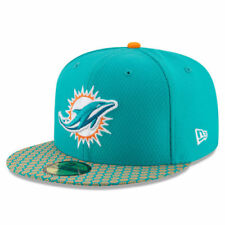 Miami Dolphins New Era NFL 17 Sideline Official Youth 59Fifty Headwear - Aqua
