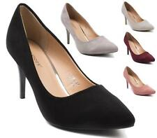 WOMENS LADIES HIGH STILETTO HEELS POINTY TOE PUMPS PARTY WORK COURT SHOES SIZE