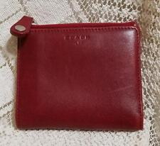 AUTHENTIC COACH RED LEATHER WALLET / COIN PURSE