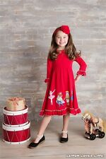 NWT Lemon Loves Lime Girls Holiday 'Festive Nutcracker Red Dress sz 2 3
