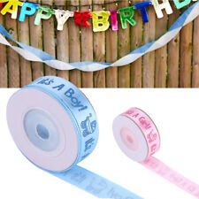 10Yards/Roll Girl/Boy Baby Shower Christening Party Favor Gift Stain Ribbon EB