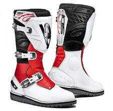 Sidi Trial Zero 1 MX Trials Dirt Bike Off Road Motocross Boots - White/Red