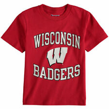 Wisconsin Badgers Champion Youth Circling Team Jersey T-Shirt - Red - NCAA