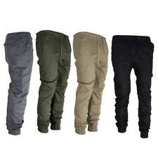 Men's Twill Jogger Pants Hip Hop Harem Casual Trousers Slim Fit Elastic Cheap