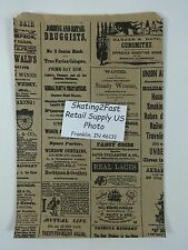 "6.25"" x 9.25"" Newsprint Design Paper Merchandise Bag Retail Shopping"