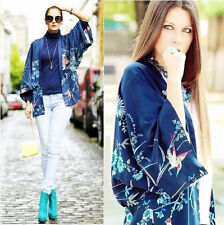 BLOGGERS Boho Ethnic Phoenix kimono Cardigan Jacket Open Cape Drape Beach Blouse