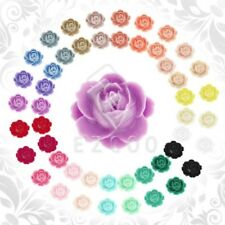 10pcs 21x19mm Cameo Flatback Vintage Flower Resin Cabochons Assorted Wholesale