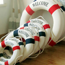 Welcome Aboard Nautical Life Lifebuoy Ring Boat Wall Hanging Home Decoration TO