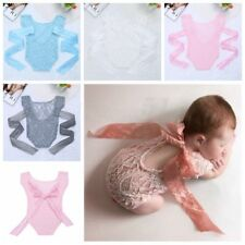 Newborn Baby Girls Lace Romper Sunsuit Infant Bodysuit Outfit Photography Prop