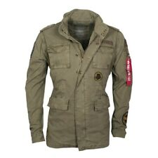 ALPHA Industries Men's Jacket Huntington Patch Field Olive green