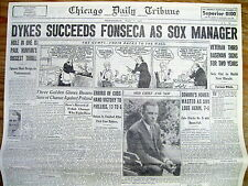 Best 1934 Chicago newspaper JIMMY DYKES isNow MANAGER of WHITE SOX baseball team