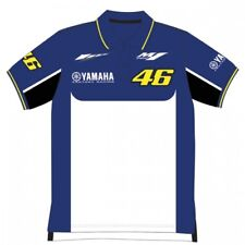 Official VR46 Valentino Rossi MotoGP Motorcycle Motorbike Yamaha 46 Polo - Blue