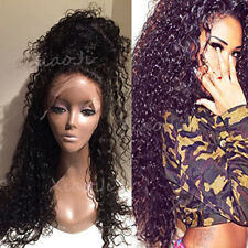 8A 1B Pre Plucked Brazilian Human Hair Frontal Lace Wigs Silk Straight Curly J5