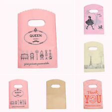 50pcs/lot Mini Plastic Gift Packaging Bags Handles Small Pouch Pretty Gift Bag