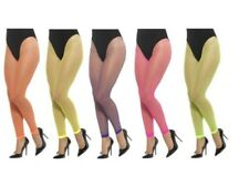 1980s Neon Footless Tights Ladies 80s Fishnet Fancy Dress Rewind Accessory
