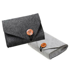 Felt Pouch Power Bank Storage Bag Mini For Data Cable Mouse Travel Organizer