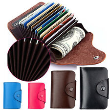 Credit Card Wallet Genuine Leather Blocking Pocket Holder Case-Men Women gift U