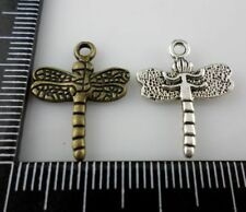 40/300pcs Tibetan Silver/Bronze Dragonfly Charms Pendants 16x20mm