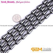 """Drop Black Jet Smooth & Faceted Hematite Beads for Jewelry Making Strand 15"""""""