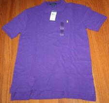 NEW NWT Polo Ralph Lauren Boys Short Sleeve Polo Shirt Purple Pony Logo $35 *W6