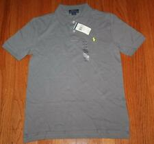 NEW NWT Polo Ralph Lauren Boys Short Sleeve Polo Shirt Marine Grey Pony Logo *W9